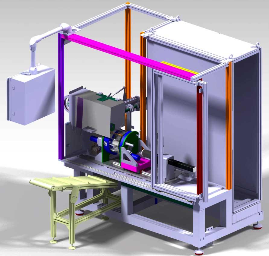 máquina de calibrado de tubos